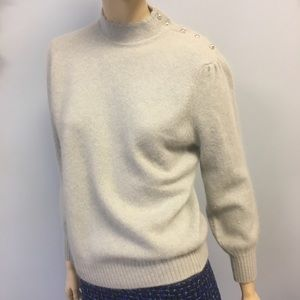 Vintage Scottish Lambswool and Angora sweater Grey
